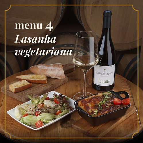 MENU 4 - Lasanha vegetariana (2 pessoas)