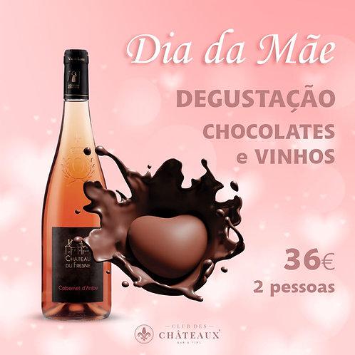 Especial Dia da Mãe - Degustação de Chocolates e Vinhos, para 2 pessoas