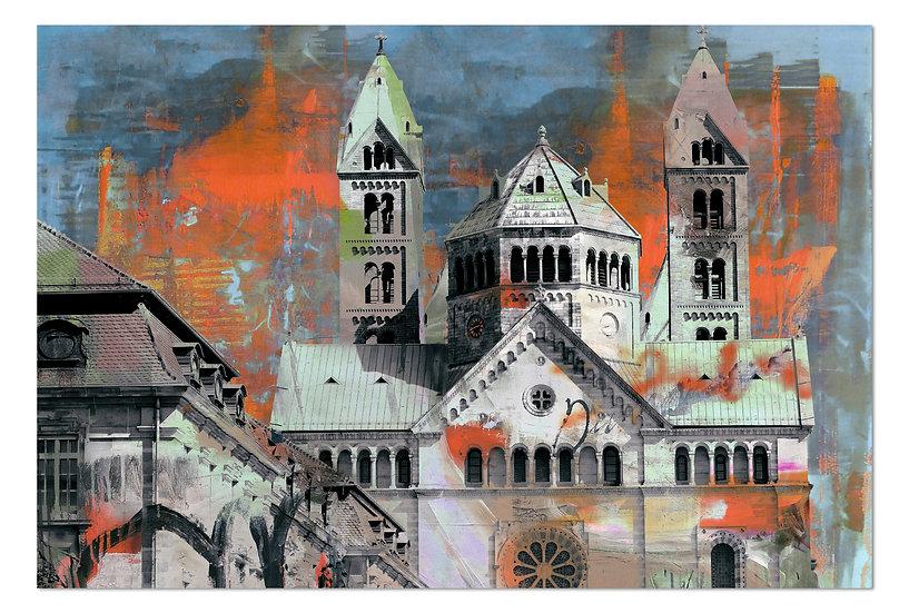Kaiserdom Speyer Wandbild, Herbstaktion, Kunstbilder, Online Shop, Art2 Kunstraum, Leinwandbilder, Dekoration, Design