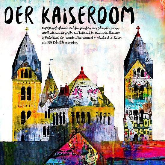 Kaiserdom, Angebot, kunst, druck, Leinwand, abstrakt, speyer, Rabatt, Ausstellung
