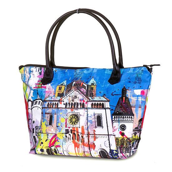 Blaue Designer Speyer Handtasche, Kunst, Kaiserdom, Online kaufen