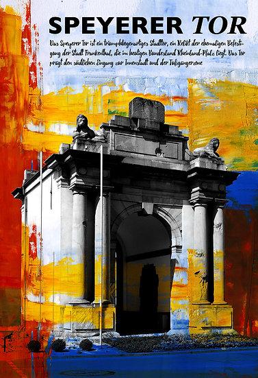 Frankenthal, Speyrer tor, Popart, Kunstdruck, art2 kunstraum, Einrichtung, online kaufen, Gemälde