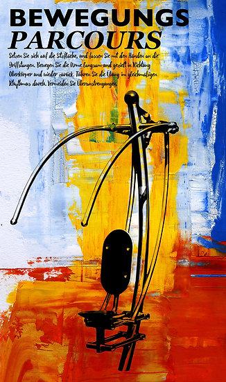 Bewegungsparcours, Frankenthal, Kunst, Wandbild, Dekoration, Kunst, Art, Einrichtung, Modern, Abstrakt