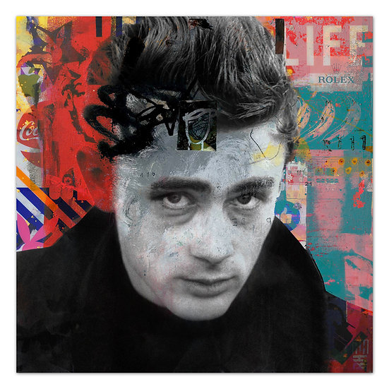 James Dean art, Kunstbild, James Dean, Wandbild, dekoration, art2 Kunstraum, legend, dean popart