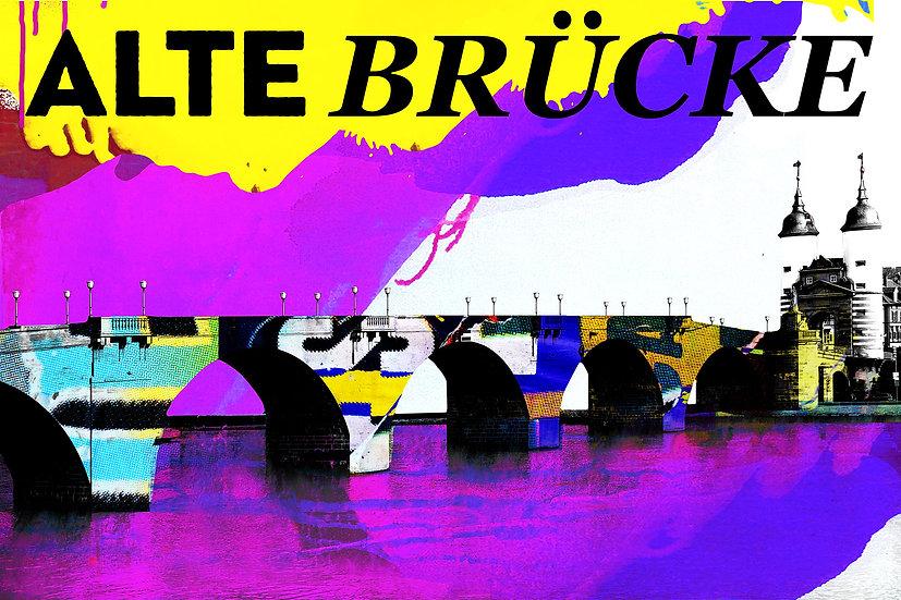 Alte Brücke Heidelberg, Kunstdruck, Kunst, Online kaufen