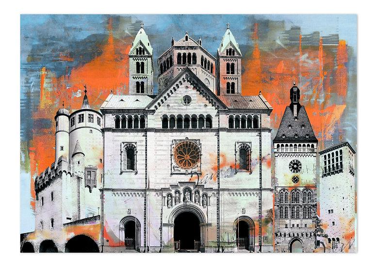 Speyer kunstbilder, art2 Kunstraum, Wandbilder Städte, Leinwand, Angebote, sale, shop, Speyer, Pfalz