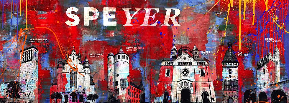 Speyer rot weiss lang, Kunstdruck, Kunst, Online kaufen