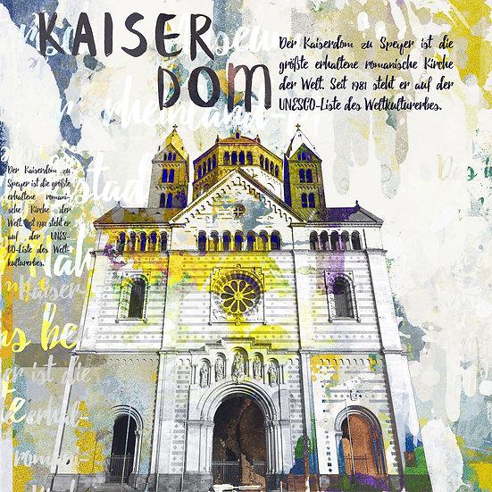 Kaiserdom Speyer von vorne Vintage, Kunstdruck, Kunst, Online kaufen