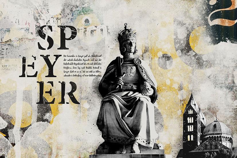 Kaiserdom, König Rudolf, Dekoration, Wandbild, Kunstdruck, online kaufen, art, Popart, Vintage, modern, abstrakt, Angebot