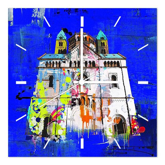 Speyer Wanduhr, Geschenkartikel Speyer, art2 kunstraum, Speyer Fotogeschenke, Kaiserdom Speyer Uhr, altpörtel Wanduhr