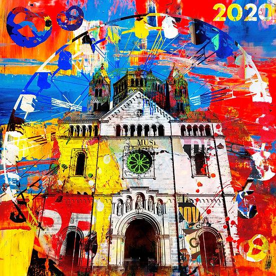 Kaiserdom und Brezelfest, Riesenrad, Brezeln, Speyer, Kunstdruck, Kunst, Online kaufen