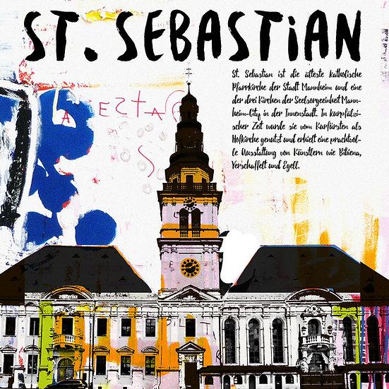 mannheim, Kirche, Sebastian, Kunstdruck, motive, modern, wohnen, zuhause, art, Künstler, Ausstellung