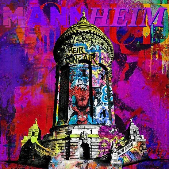 Wasserturm Mannheim pop, Kunstdruck, Kunst, Online kaufen