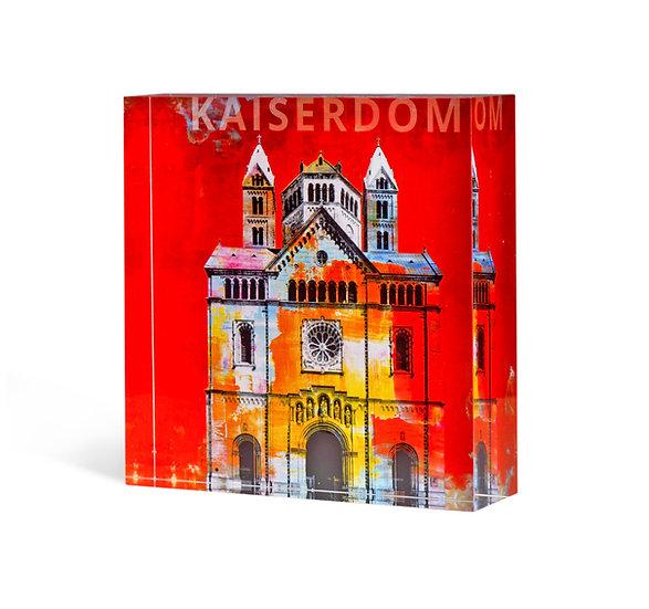 acrylblock, Speyer artikel, art2 Kunstraum, Kaiserdom Speyer, pfalz, Geschenkartikel,