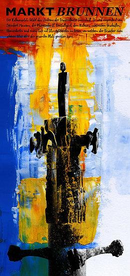markt brunnen, frankenthal, kunst, wandbild, dekoration, einrichtung, wohnung, kunst, künstler, pfalz