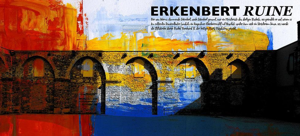 erkenbert ruine, frankenthal, kunst Gemälde, Leinwand, kunst kaufen, Wandbilder, dekoration, modern, abstrakt, Einrichtung