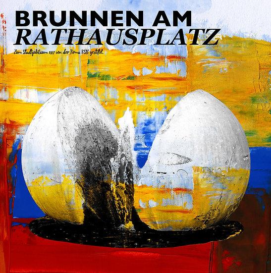Rathausplatz, frankenthal, kunst Gemälde, Leinwand, kunst kaufen, Wandbilder, dekoration, modern, abstrakt, Einrichtung