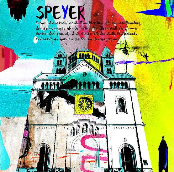 Kaiserdom Speyer von vorne, Kunstdruck, Kunst, Online kaufen