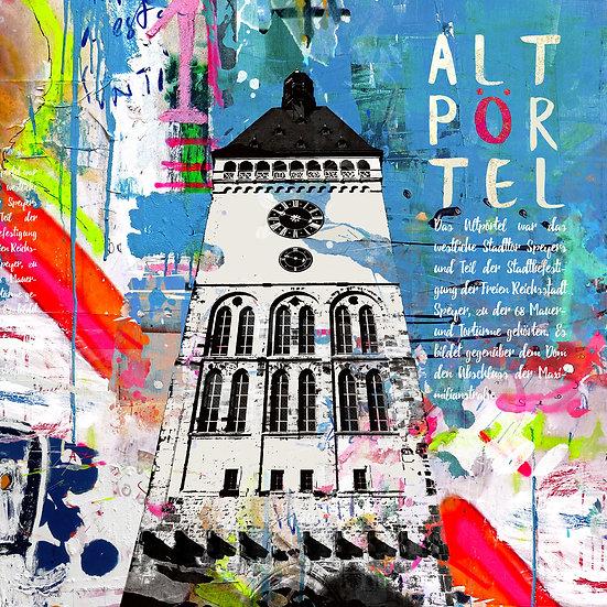 Altpörtel Speyer blau, Angebot, Kunstdruck, Kunst, Online kaufen