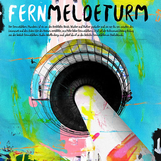 Fernmeldeturm, mannheim, kunst, Kunstdruck, Stadt, art, online kaufen, shop