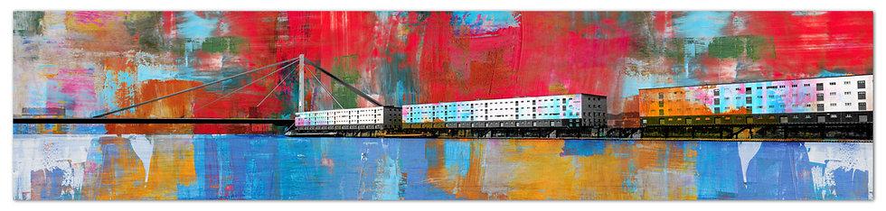 Rheinbrücke wandbild, art2 kunstraum, Mannheim Wandbilder, kunst kaufen, online shop, Leinwandbilder