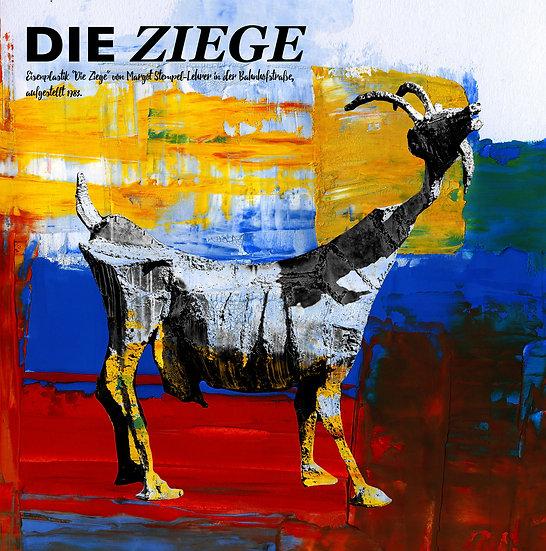 Ziege, skulptur, frankenthal, Pfalz, Kunstbilder, Wandbilder, kunst kaufen, online, dekoration, modern, abstrakt