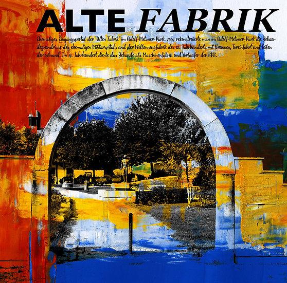 Alte Fabrik, frankenthal, kunst Gemälde, Leinwand, kunst kaufen, Wandbilder, dekoration, modern, abstrakt, Einrichtung