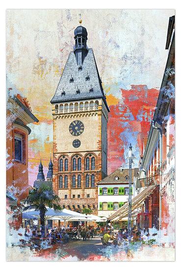 Speyer Altpörtel Kunstbild, Art2 kunstraum, speyer wandbilder, neu, speyer kunst, altpörtel Speyer