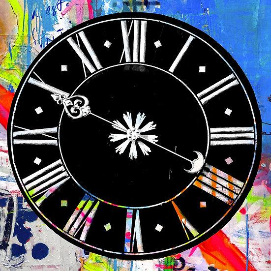 Altpörtel Uhren in blau, Speyer, Kunstdruck, Kunst, Online kaufen
