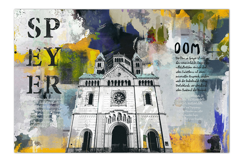 Speyer kaiserdom wandbilder, kunstbilder speyer, art2 Kunstraum, Kaiserdom Speyer wandbild, öl auf Leinwand Speyer
