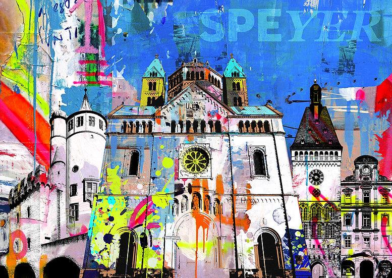 Speyer Sehenswürdigkeiten, Kaiserdom, Altpörtel, Kunstdruck, Kunst, Online kaufen