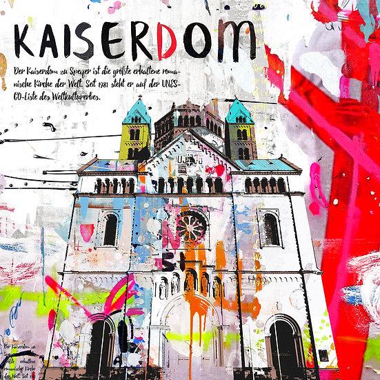 Kaiserdom Speyer in weiss, Kunstdruck, Kunst, Online kaufen