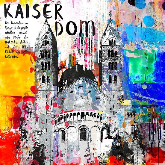 Kaiserdom Speyer von hinten, Kunstdruck, Kunst, Online kaufen