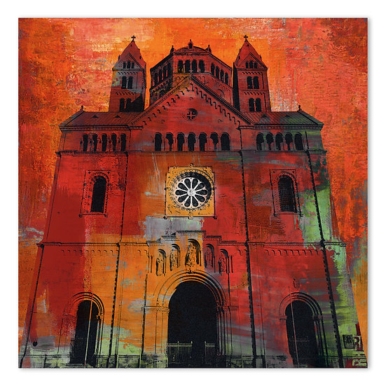 Kaiserdom Speyer Wandbild, Leinwand, Kunst online kaufen, art2 Kunstraum, Herbstaktion, Dom Gemälde, Kaiserdom kunst