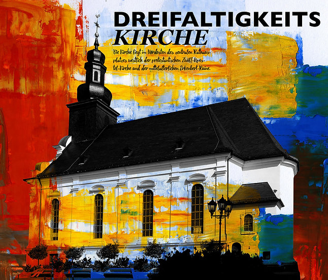 Dreifaltigkeitskirche, frankenthal, Gemälde, Leinwand, kunst kaufen, Wandbilder, dekoration, modern, abstrakt, Einrichtung