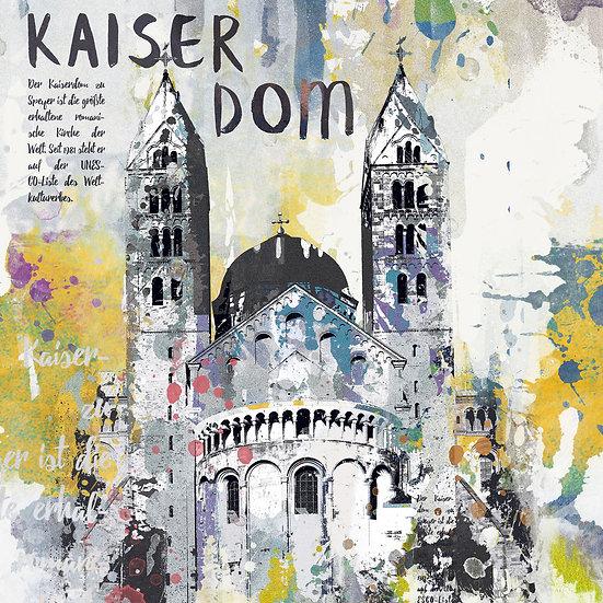 Kaiserdom Speyer von hinten Vintage, Kunstdruck, Kunst, Online kaufen