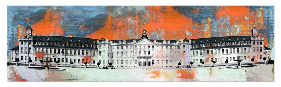 Schloss Karlsruhe Panorama | Wandbild