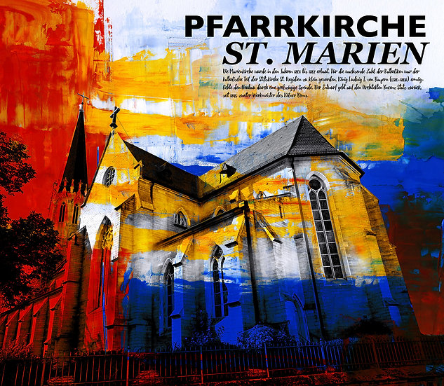 Pfarrkirche, Neustadt, St Marien, dekoration, modern, rheinlandpfalz, kunst, Künstler, Wandbilder, Kunstdruck, online kaufen