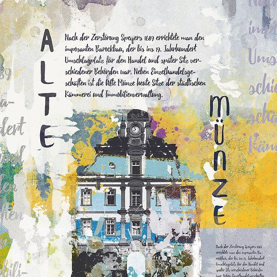Alte Münze Speyer Vintage, Kunstdruck, Kunst, Online kaufen