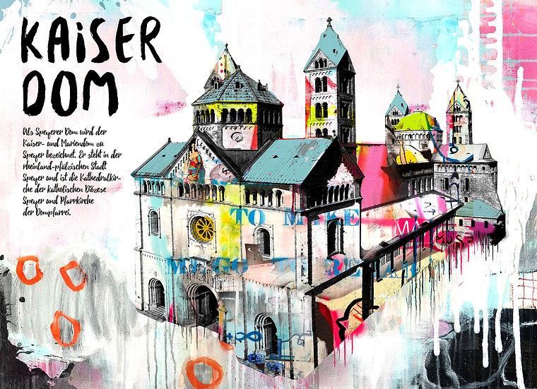 Kaiserdom Speyer gesamt, Kunstdruck, Kunst, Online kaufen