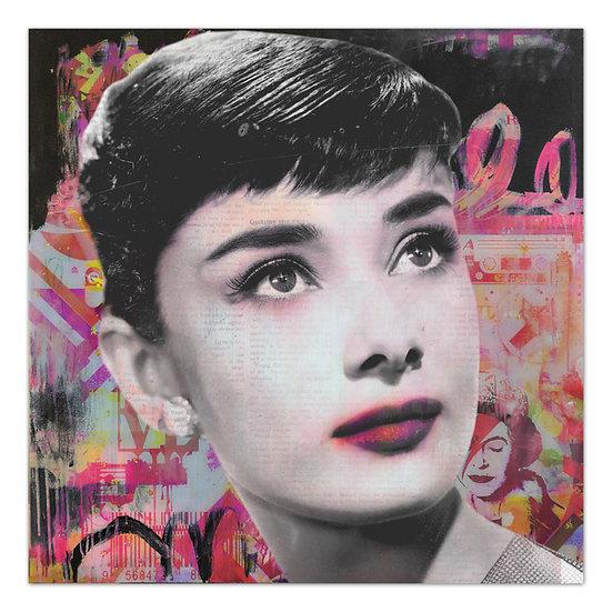 Audrey Hepburn kunst, art2 Kunstraum, wandbild, dekoration, Audrey Hepburn, modern art, popart