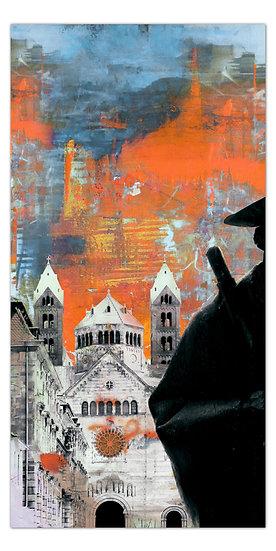 Kaiserdom Speyer Kunstbild, Wandbilder Speyer, pilger Speyer, art2 kunstraum, shop, angebote, Geschenkideen, Leinwand Bilder
