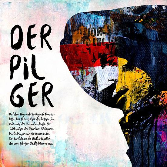 Jakobspilger Speyer in weiss, Kunstdruck, Kunst, Online kaufen