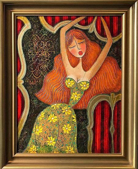 Vladimir Smahtin, Frau mit Kleid, Öl auf Leinwand, Kunst, Online kaufen
