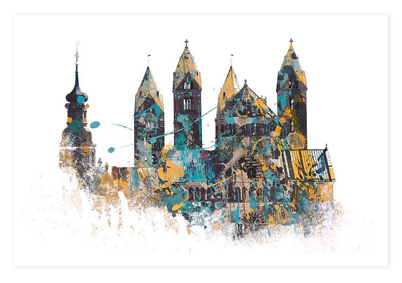 Kaiserdom Speyer abstrakt | Wandbild