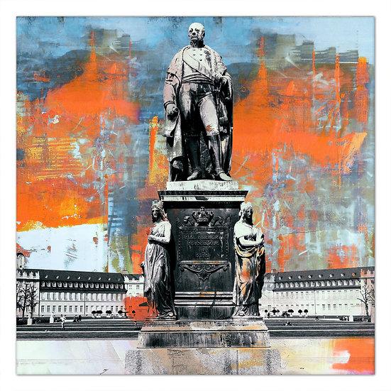 Karl Friedrich Denkmal Karlsruhe, Wandbilder Karlsruhe, art2 kunstraum, kunstbilder Karlsruhe, kunst karlsruhe