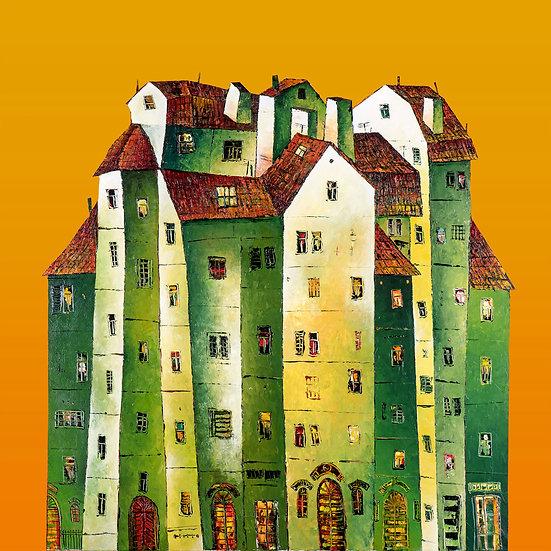Vladimir Smahtin, Grünes Haus, Kunstdruck, Kunst, Online kaufen