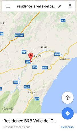 Mappa Galtellì