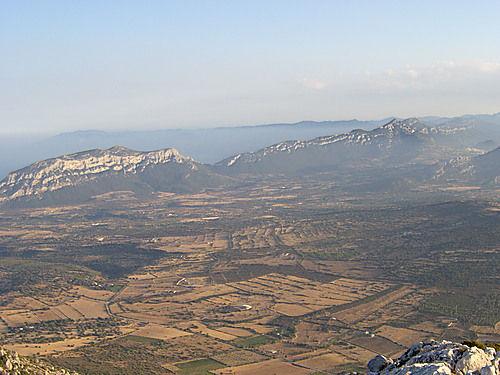Visuale Baronia dal Monte Tuttavista Galtellì