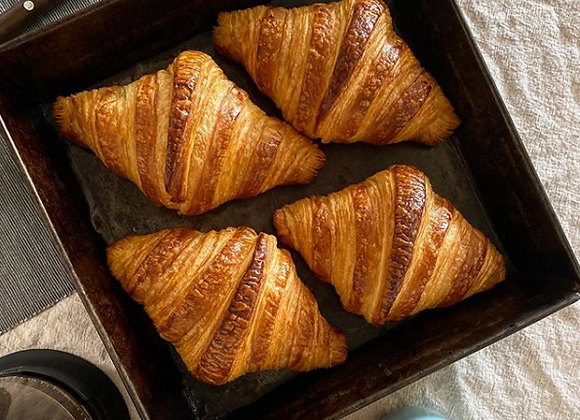 Fresh Baked Butter Croissants (Box of 4) | By Steve's Gourmet Foods